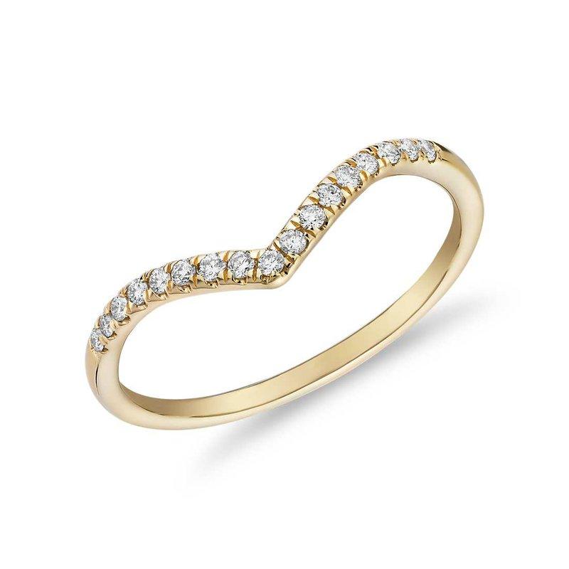Lasker Bridal Chevron Diamond Band