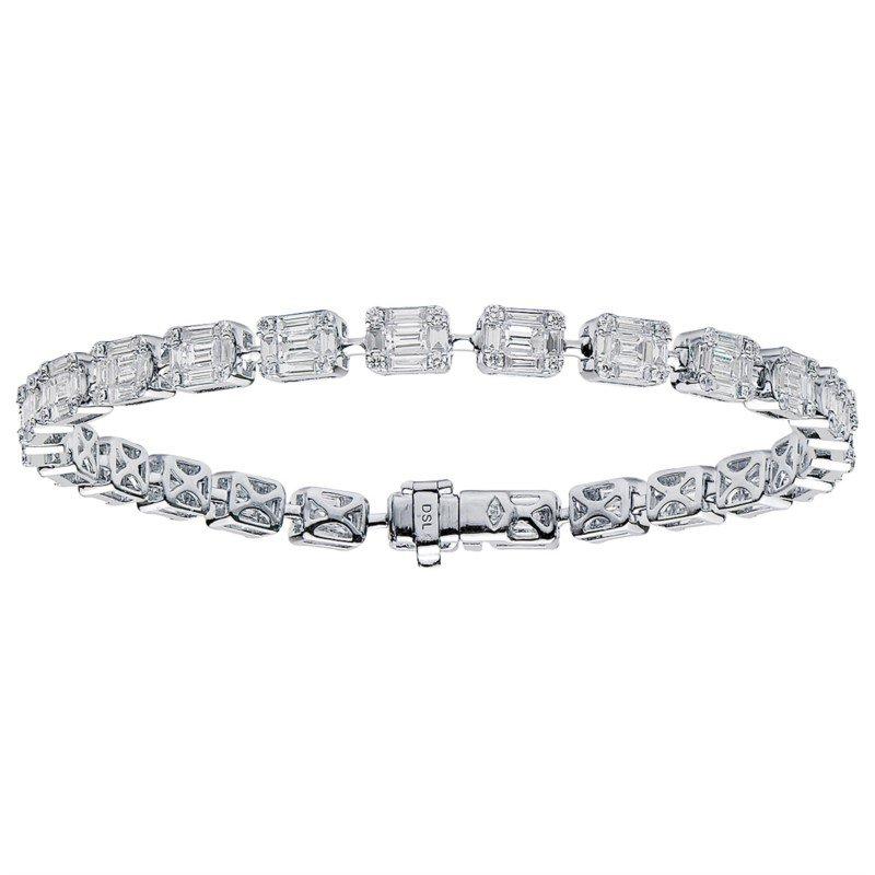 Lasker Diamond Fashion Baguette Bracelet