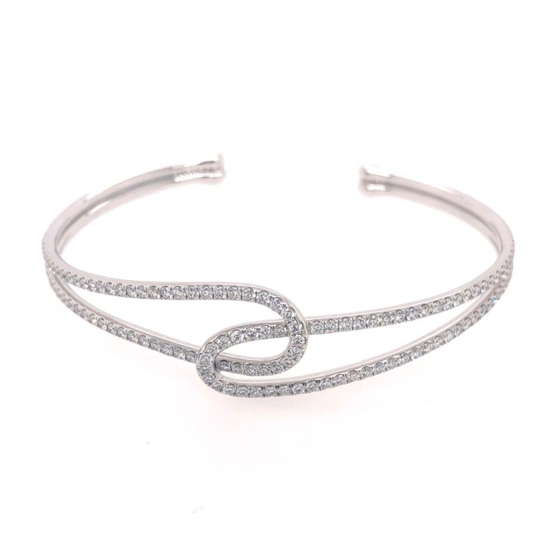 Lasker Diamond Fashion Intertwined Diamond Bangle