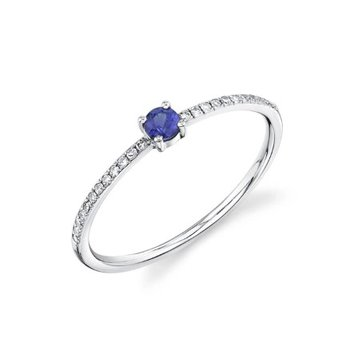 Dainty Blue Sapphire Ring