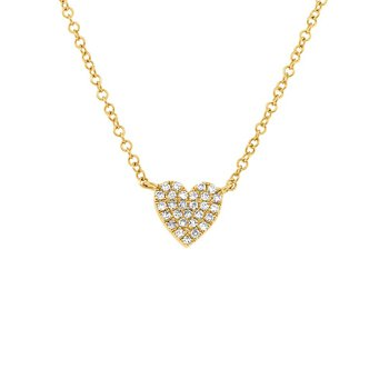 Diamond Pave Full Heart Necklace