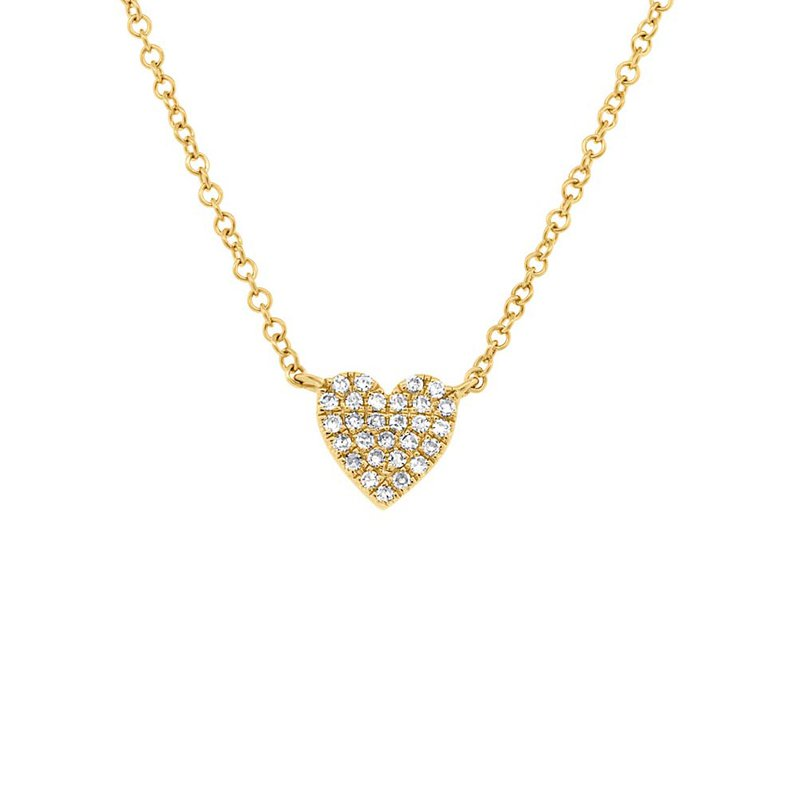 Lasker Diamond Fashion Diamond Pave Full Heart Necklace