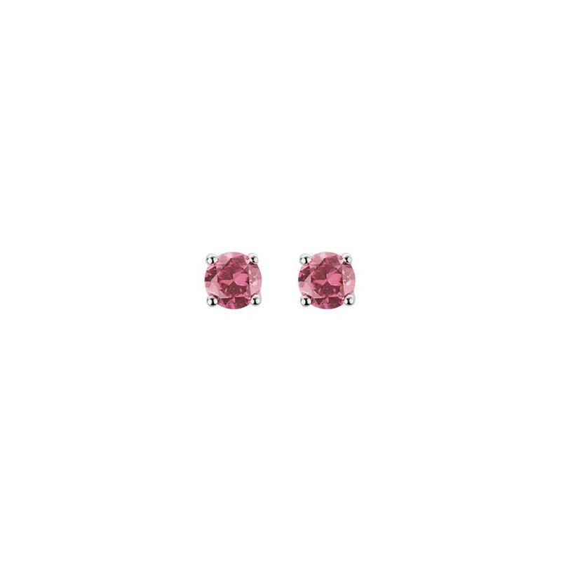 Lasker Gemstone Pink Tourmaline Stud Earrings