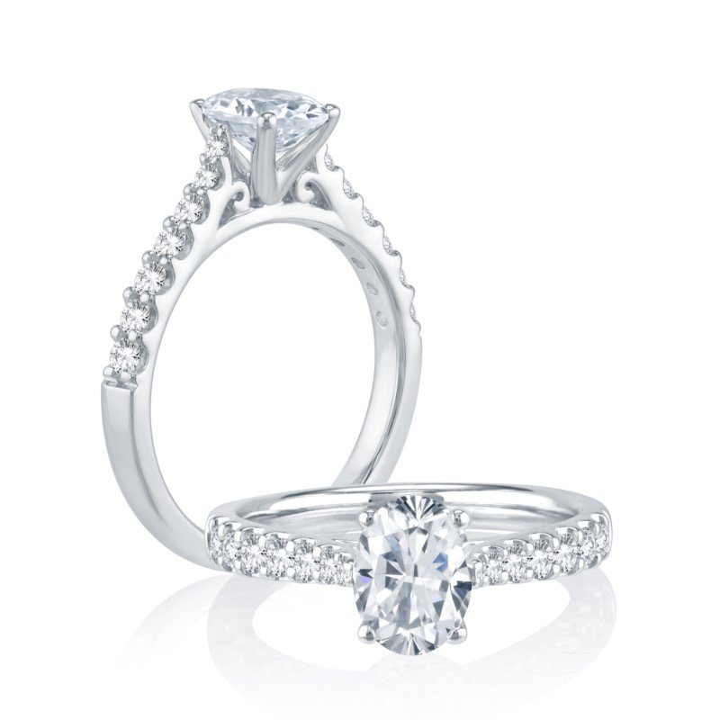 Lasker Bridal Classic Oval Halo Ring