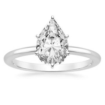 One & Only Pear Solitaire Ring - 0.40CT
