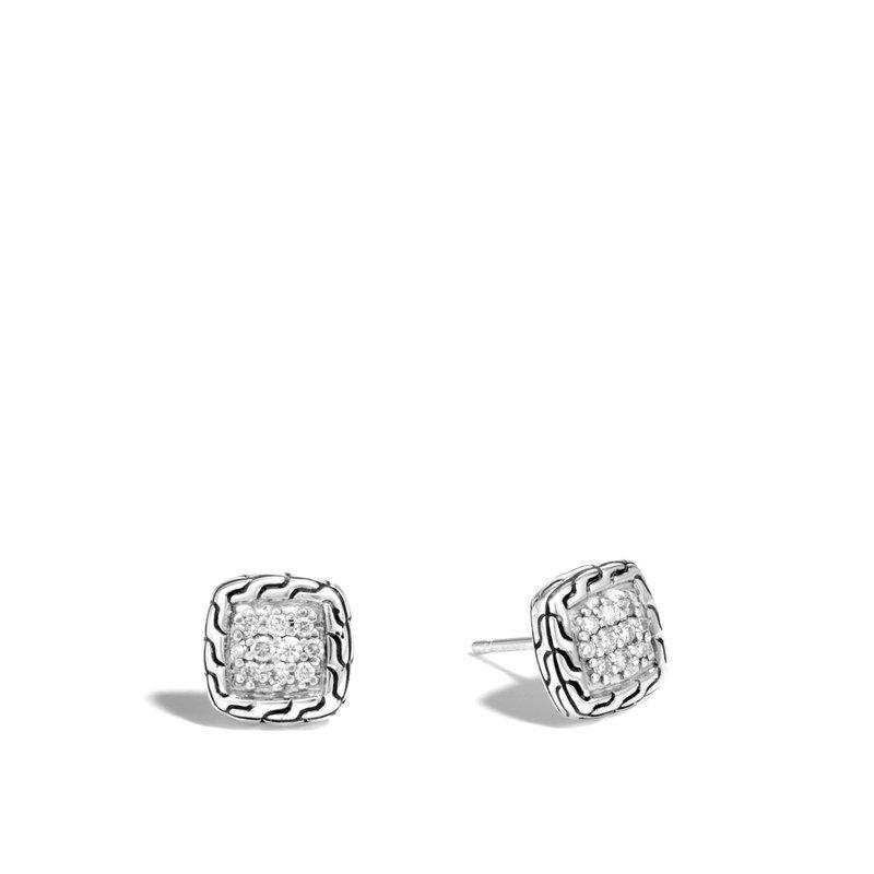 JOHN HARDY Classic Chain Stud Earrings with Diamonds