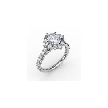 Tiara Halo Engagement Ring Mounting
