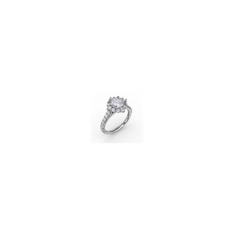 Fana Tiara Halo Engagement Ring Mounting