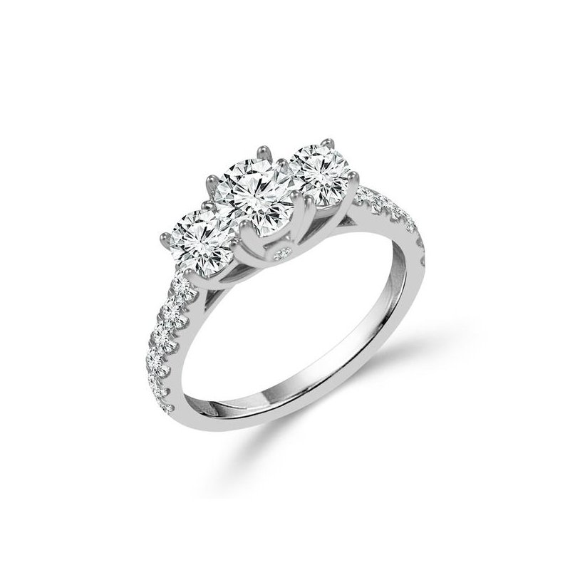Lasker Bridal Past, Present and Future Ring