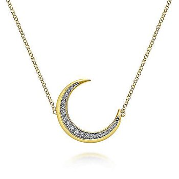 Over the Moon Diamond Pendant