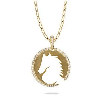 Horse Medallion Pendant