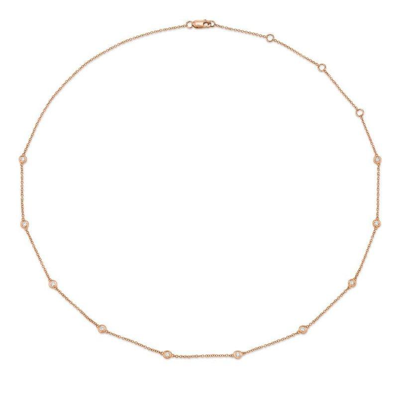 "Lasker Diamond Fashion Milestone Diamonds by the Yard 18"" Necklace"