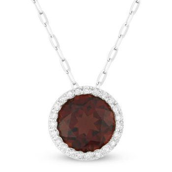 Center Of My World Garnet Pendant