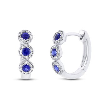 Center Of My World Sapphire Earrings