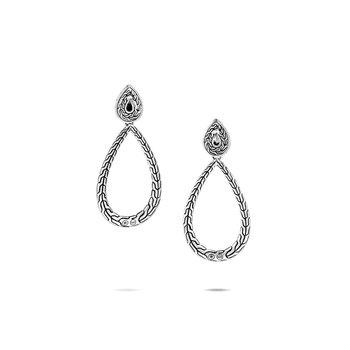 Silver Pear Drop Earrings