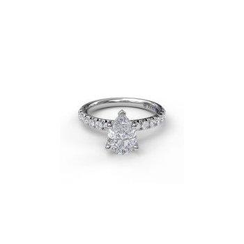 Pear-Shape Diamond Ring Mounting