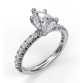 Pear-Shape Diamond Ring Mounting