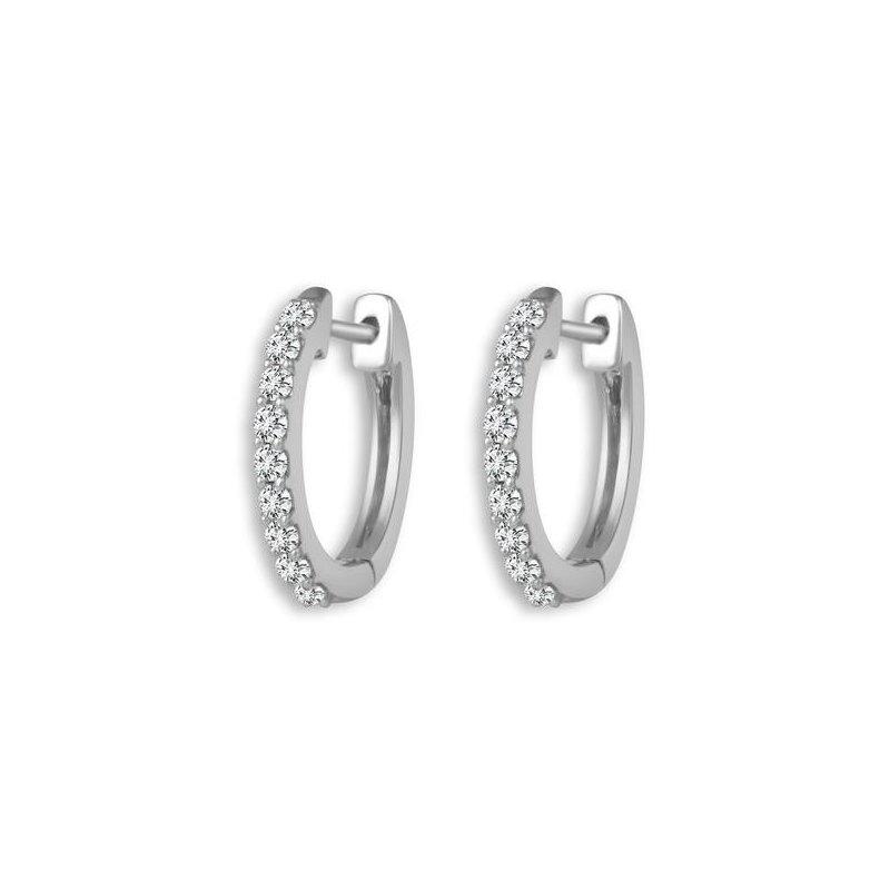 Lasker Diamond Fashion Everyday Luxury Hoops - 1/3CT