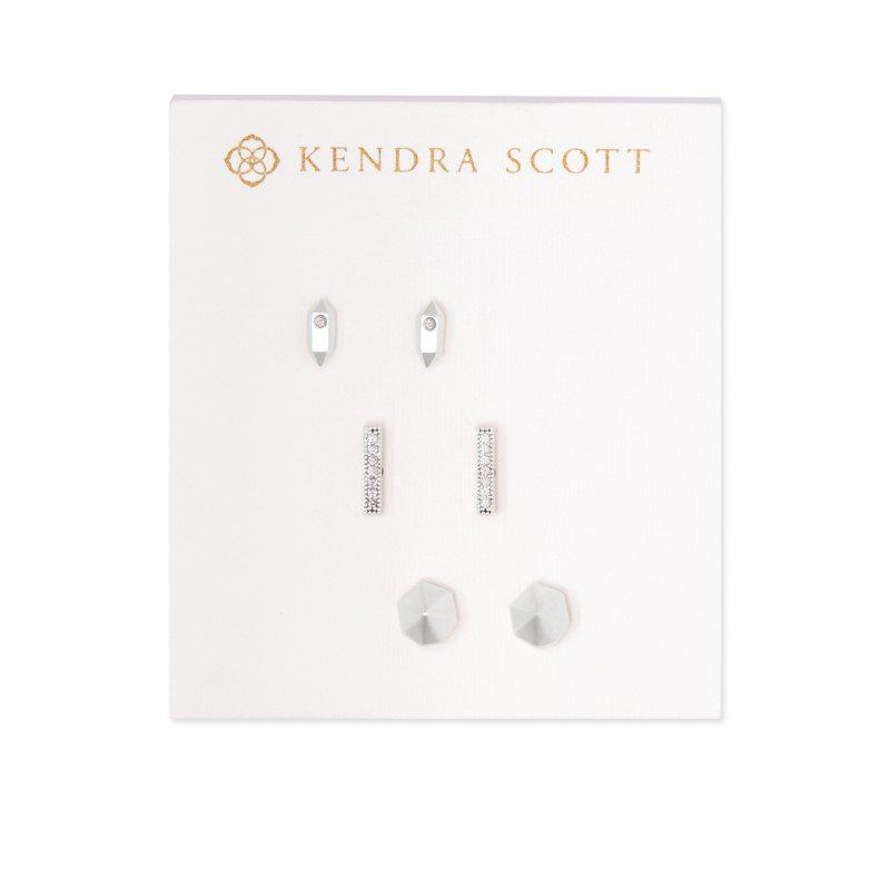 Kendra Scott Austin Stud Earring Set In Silver
