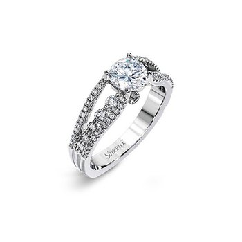Split Shank Three Row Engagement Ring Mounting