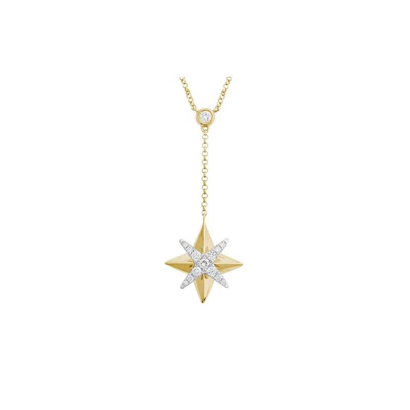 Lasker Diamond Fashion Star Pendant with Diamonds