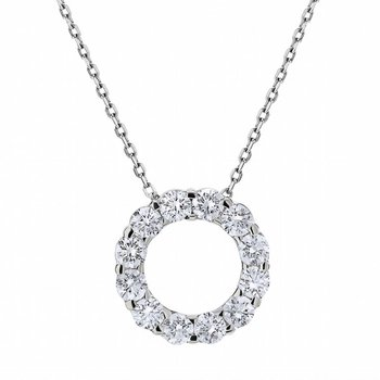 Diamond Cut-out Circle Pendant
