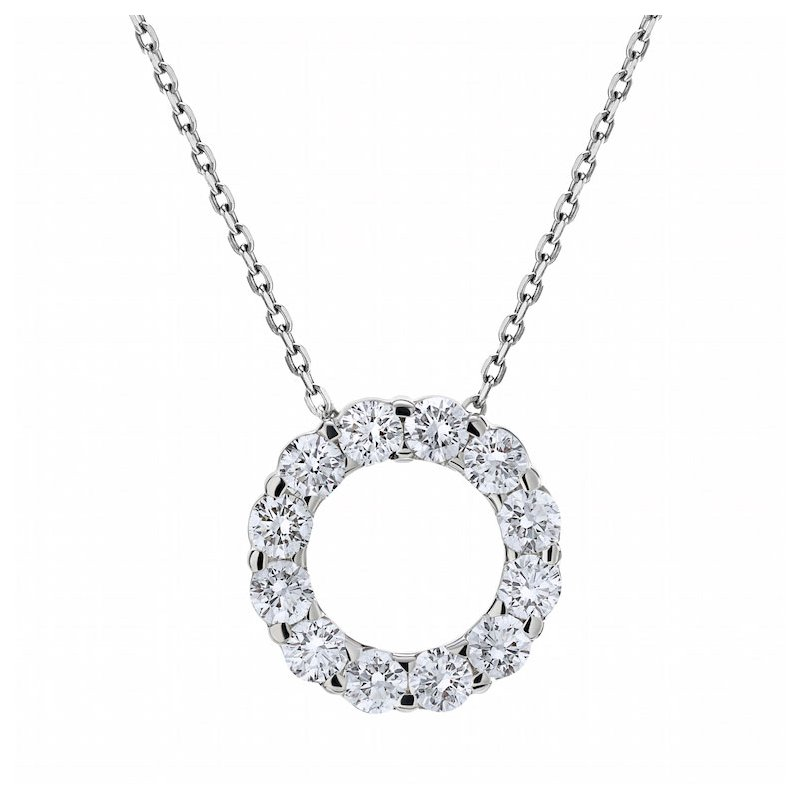 Lasker Diamond Fashion Diamond Cut-out Circle Pendant