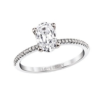 Simply Petite Ring Mounting - 1ct Oval