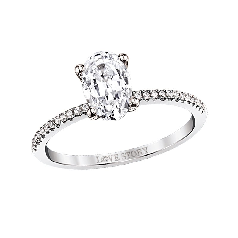 Lasker Bridal Simply Petite Ring Mounting - 1ct Oval