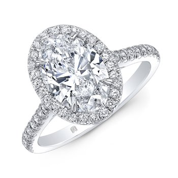 Oval Halo Ring - 1CT Oval Diamond