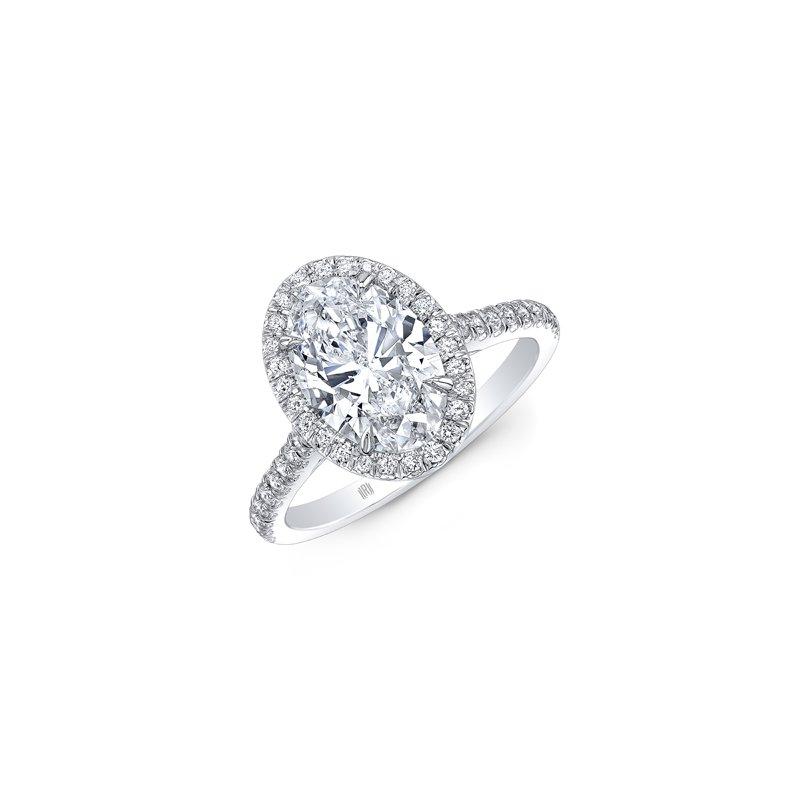 Lasker Bridal Oval Halo Ring - 1CT Oval Diamond