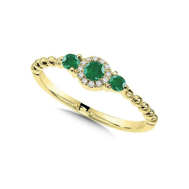Lasker Gemstone Center Of My World Emerald Ring