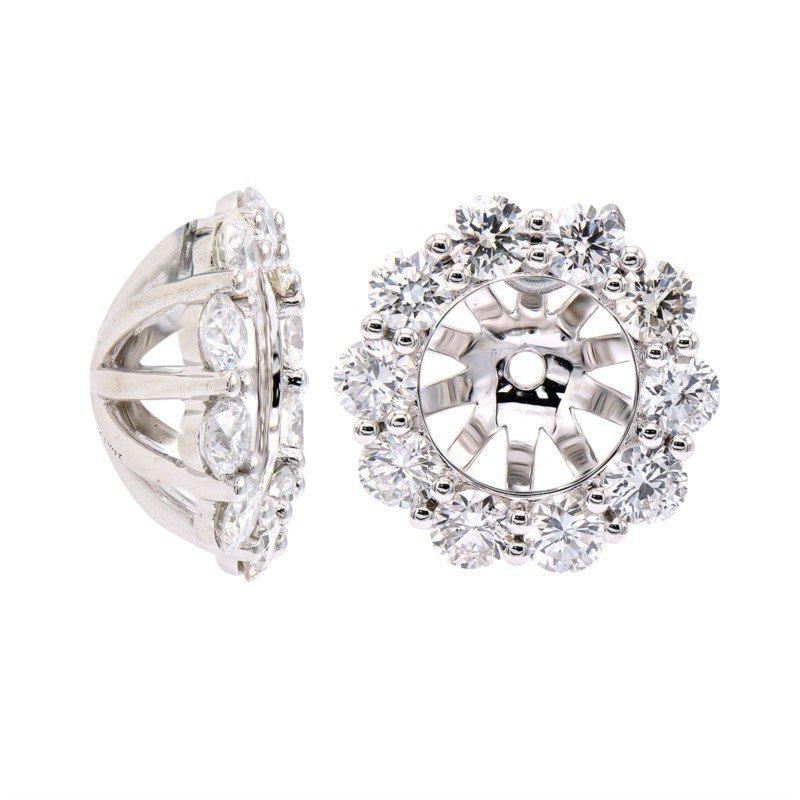 Lasker Diamond Fashion Diamond Earring Jackets for 1-1.50CT Studs