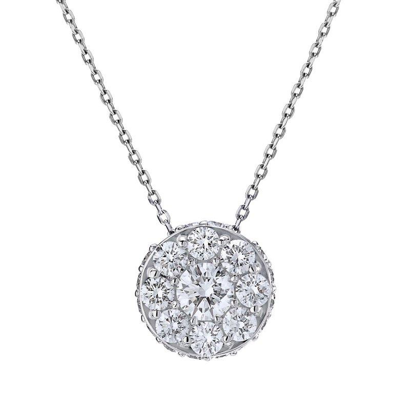 Lasker Diamond Fashion Center of My World Diamond Illusion Pendant