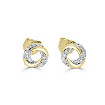 Twisted Halo Stud Earrings