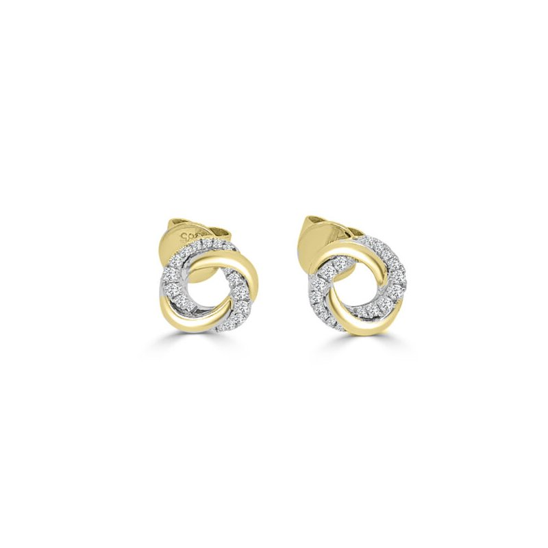 Frederic Sage Twisted Halo Stud Earrings