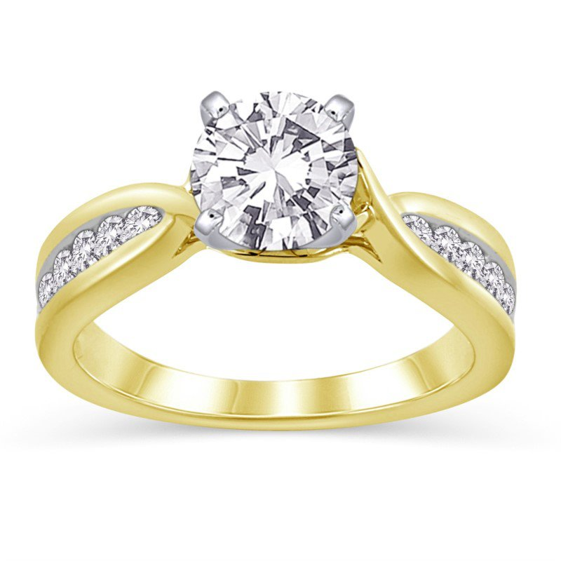 Lasker Bridal Channel Set Crossover Ring Mounting