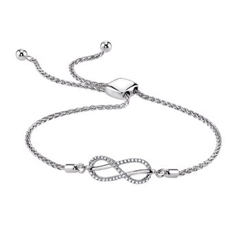 Sterling & Diamond Infinity Bracelet