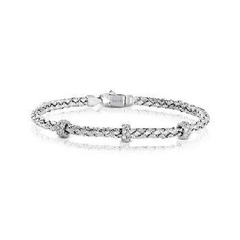Rope Style Bracelet with Diamond Sections
