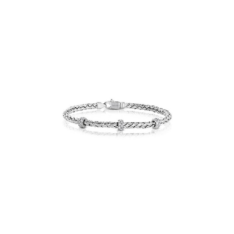 Simon G Rope Style Bracelet with Diamond Sections