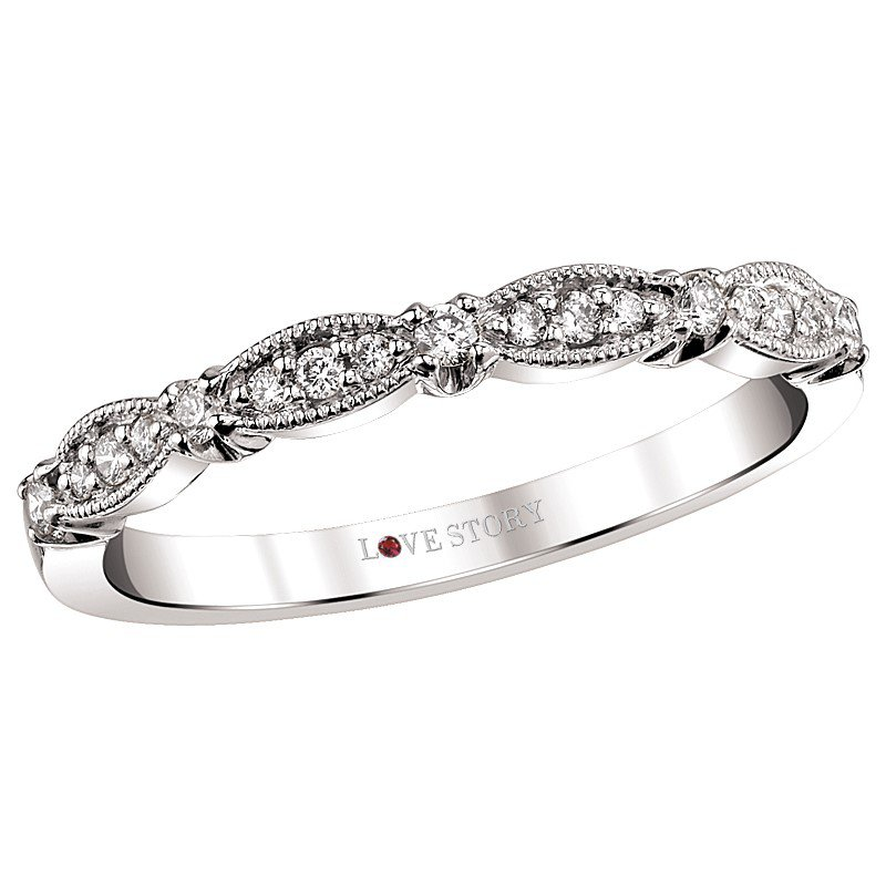 Lasker Bridal Diamond Stacking Band
