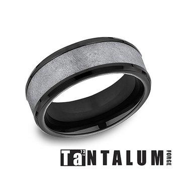 8MM TANTALUM & BLACK TITANIUM RING