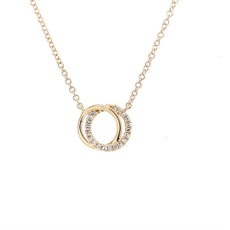 Lasker Diamond Fashion You & Me Intersecting Circle Pendant