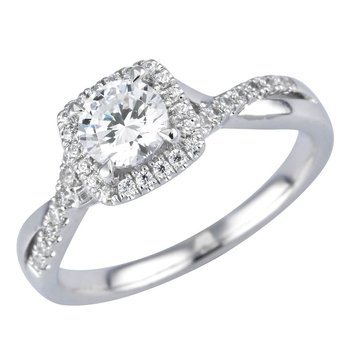 Royal Halo Ring - 1/2ct Center Diamond