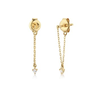 Laurel Diamond Chain Earrings
