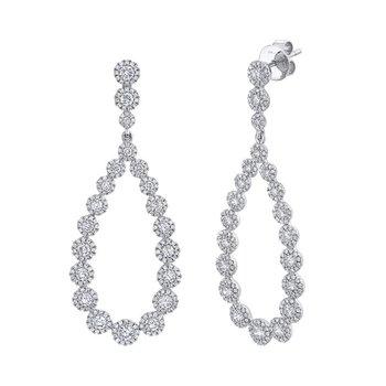 Halo Drop Diamond Earrings