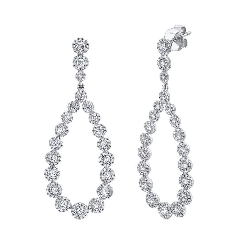 Lasker Diamond Fashion Halo Drop Diamond Earrings