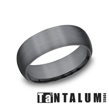 8mm Dark Tantalum Band
