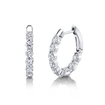 Oval Hoop Earrings 1.54tw
