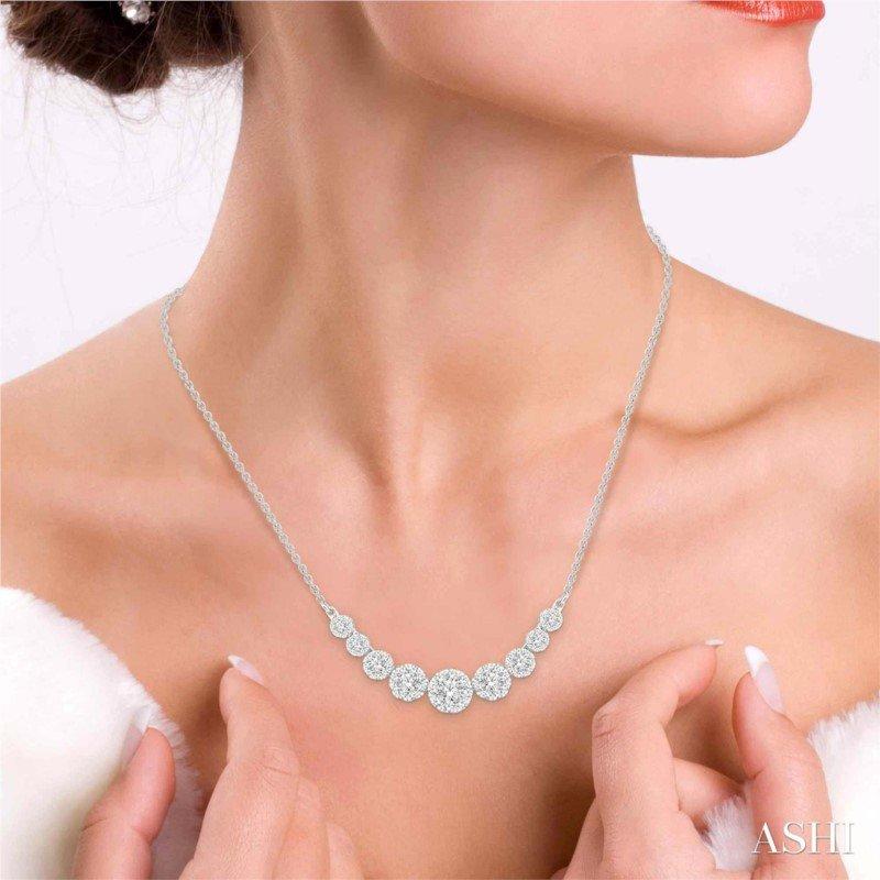 Lasker Diamond Fashion Lovebright Diamond Necklace - 1cttw